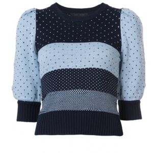 Marc Jacobs striped polka dot knitted sweater